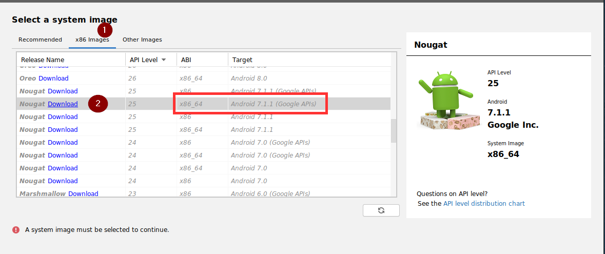 Android Studio: Select the hardware